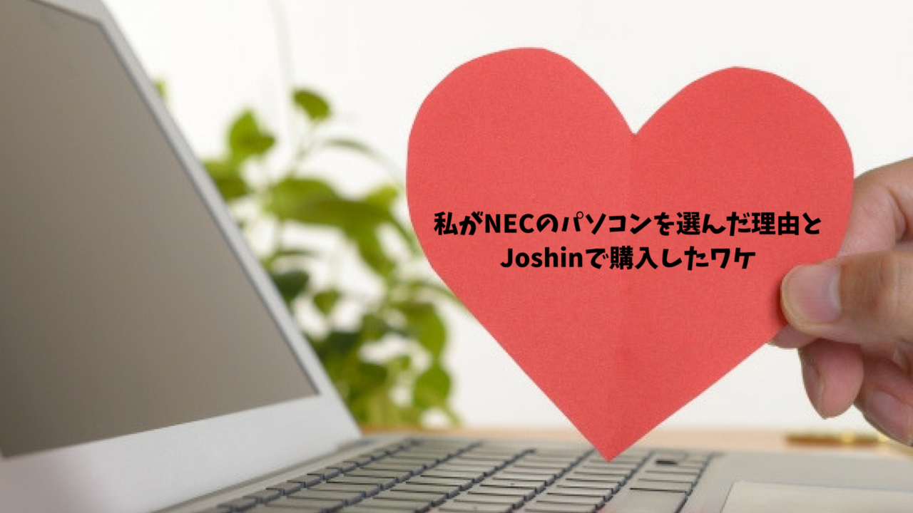 私がNECのパソコンを選んだ理由と Joshinで購入したワケ
