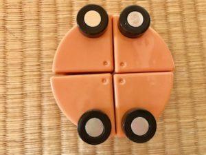 車輪付き扇形キューブ