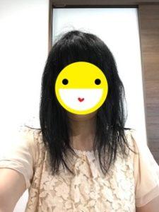 とかす前の髪